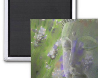 Lavender Buddha Refrigerator Magnet