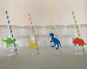 Dinosaur Party Cups, Dinosaur Birthday Party cups, Dinosaur Baby Shower, Dinosaur Party Favors