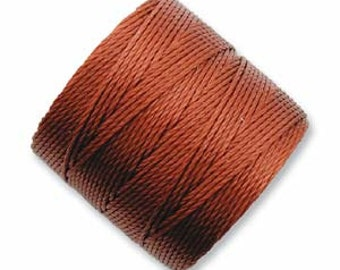 Super-lon Sienna 77 yards S-lon Bead Cord Micro Macrame, Pearl Knotting