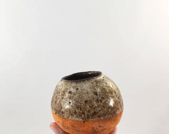 Ancient Orange Ceramic Bud Vase Small