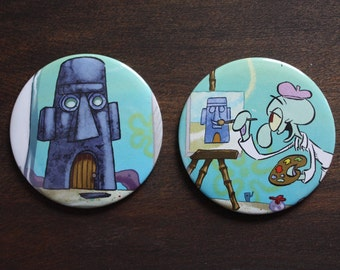 Squidward Tentacles Painting Magnets - Spongebob Squarepants