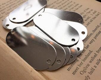 5 Aluminum TUMBLED Rounded Rectangle Blanks - LARGE - 18 Gauge