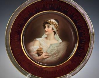 Portrait Luster Plate Zeh Scherzer & Co ROYAL MUNICH Gorgeous Woman