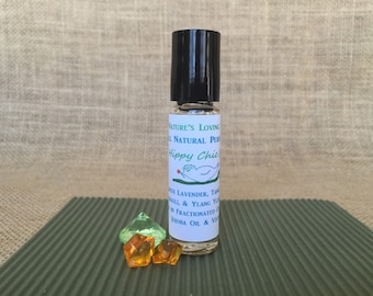 Perfume Oil, All Natural Made With Lavender, Orange, Tangerine, Ylang Ylang, and Patchouli Essential Oils. Hippy Chic Scent, Amazing!