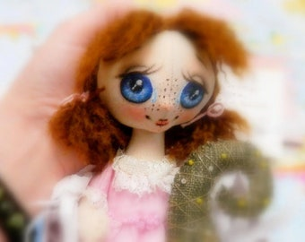 Art Collectibles nursery decor handmade rag doll personalized stuffed toy collectible doll
