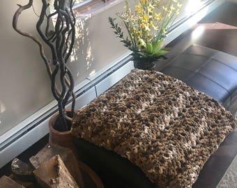 Warm Afghan Throw // Crocheted blanket // Home Decor