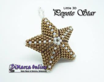 Beading Pattern/Tutorial LITTLE 3D PEYOTE STAR - Basic Instructions