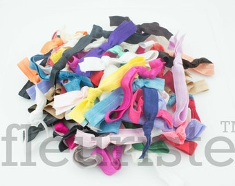 Grab Bag Hair Ties, FOE Hair Ties, Hair Ties, Yoga Hair Ties, Trendy FOE Hair Ties, Knotted Hair Ties, Preppy Hair Ties, No Crease Hair Ties