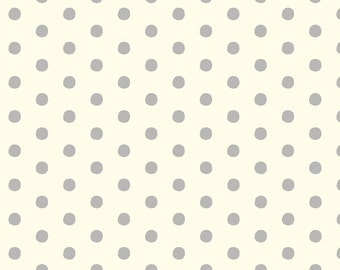 Anapola Dots-Gray on Cream fabric by Red Rooster Fabrics