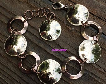 50th Birthday Gift Lucky Penny Bracelet Anniversay Coin Jewelry PICK YOUR YEAR! 1968 1963 1973 1978 1983 1988 1993 1998 2000 2003 2008 2013