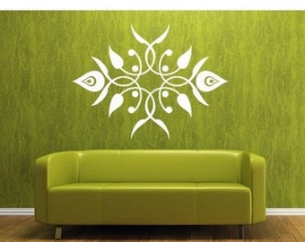 20% OFF Memorial Day Sale Leaf Elements Ornament tribal wall decal, sticker, mural, vinyl wall art