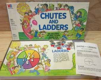 1979 Milton Bradley Chutes and Ladders Board Game
