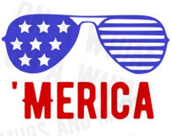Merica SVG 'Merica Shades 4th of July SVG
