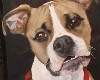 Custom Tall Kooler Hand Painted Portrait of YOUR Pet