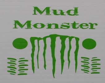 Mud Monster Vinyl Decal Sticker