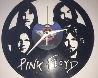 """Pink Floyd vinyl record wall art - upcycled from an original 12"""" vinyl record"""
