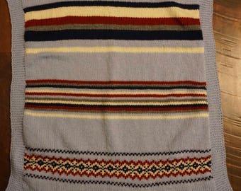 Fair Isle Baby Blanket