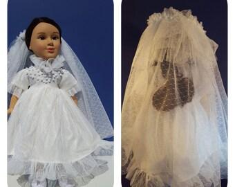 18 inch Doll Wedding Dress & Veil