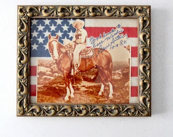vintage Gene Autry framed signed photo