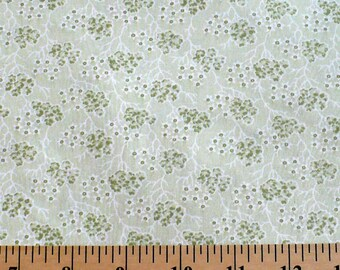 Fabric, Pale green, P&B, Cherry Blossoms, 1 YARD, Discontinued