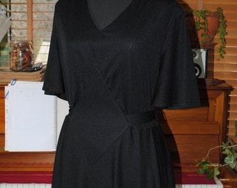 Black evening dress 70s