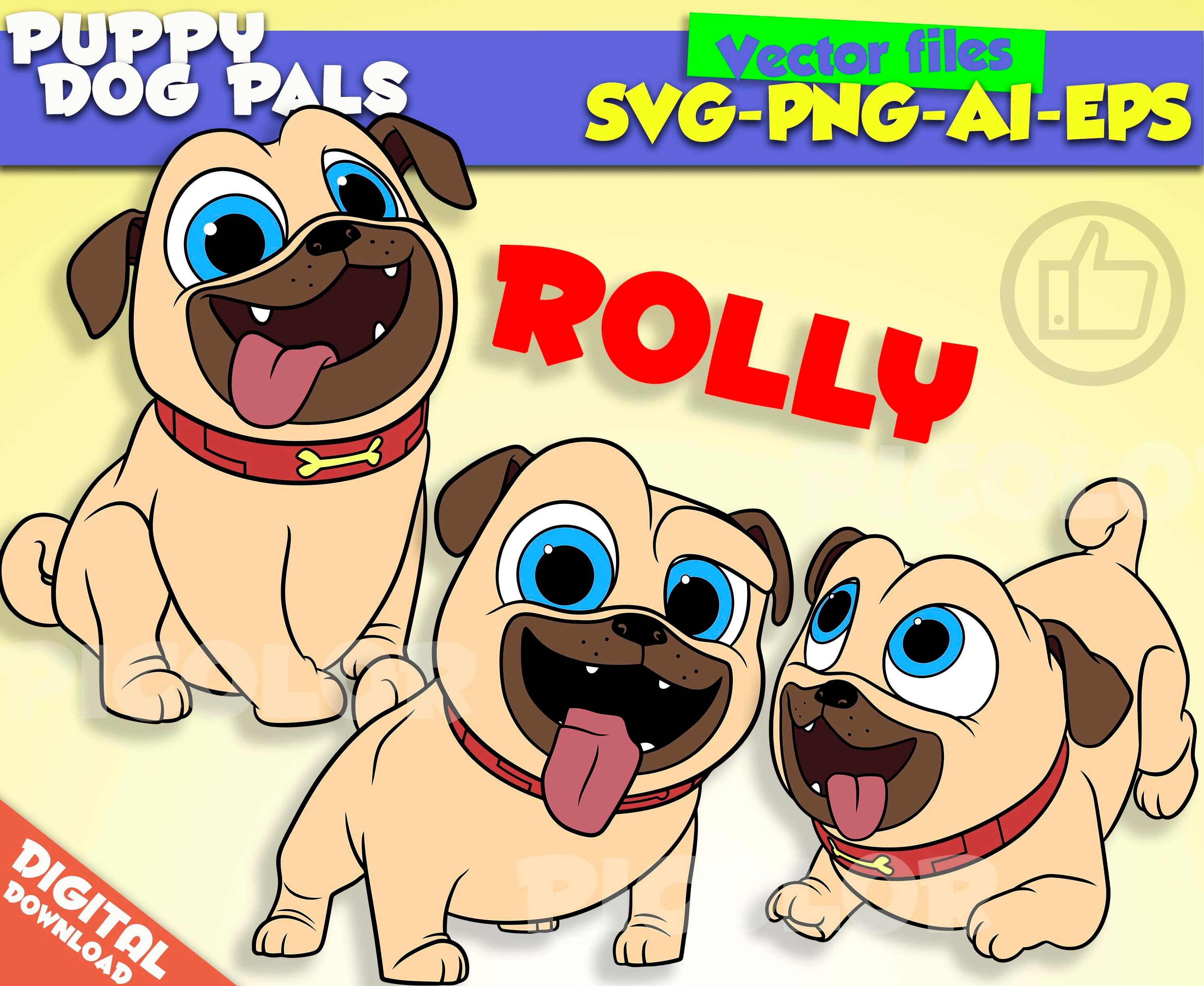 Puppy Dog Pals svg Rolly Puppy Dog Pals clipart Puppy Dog Pals Rolly ...