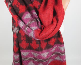 Blanket ScarfTarvel Wanderlust Gift Holiday Tribal Scarf Warm Scarf Ethnic Scarf Bohemian Fall Winter Scarf Women Accessories Gift For Her