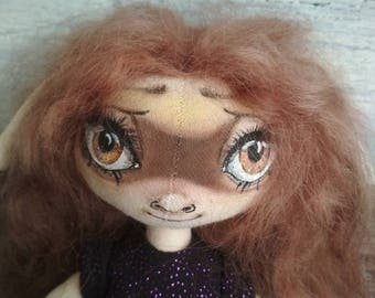Handmade dolls, textile dolls, elf