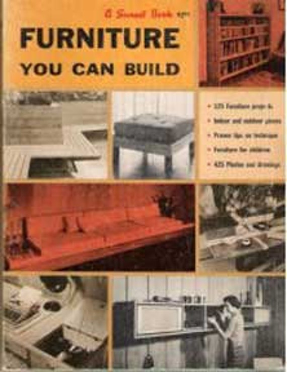 1960s MID CENTURY MODERN Furniture You Can Build Design Plans Book