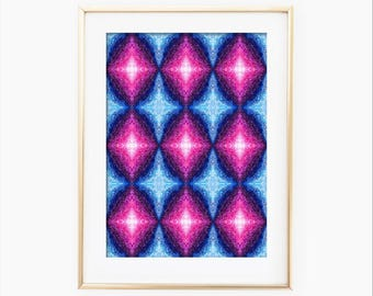 Abstract Geometric Art, Abstract Watercolor, Geometric Art Watercolor, Abstract Painting, Watercolor Painting, Geometric Painting, Wall Art