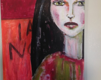 NOT A JOKE original acrylic painting 20x24