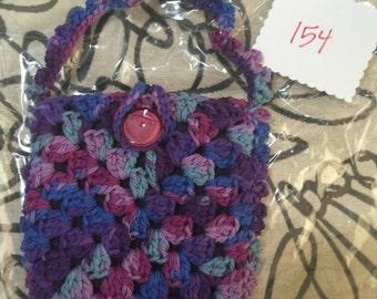 Crocheted Granny Square Purse #154