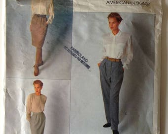 Vogue 2392 Ladies Skirt and Pants Calvin Klein Size 12-14-16 Vintage 1989