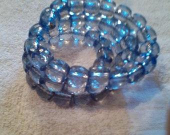 Beaded Aqua Necklace and Bracelet