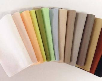 "Fourteen-pack 8"" x 12"" Earth Tones 100% Merino Wool Felt"