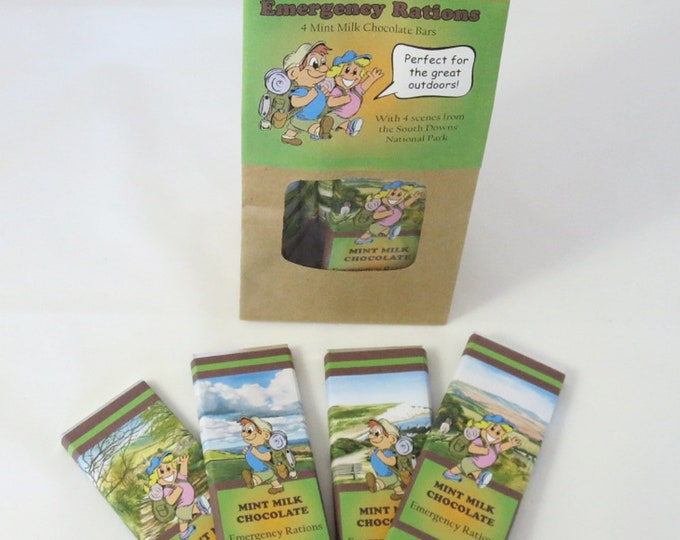 Featured listing image: Emergency Rations 4x25g Mint Milk Chocolate Bars