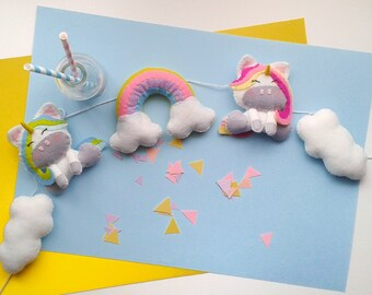 Unicorn Garland Pattern