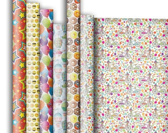 Jillson & Roberts Premium Gift Wrap Roll Assortment, Celebration Designs (6 Rolls)