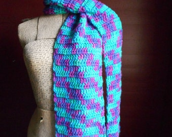 Gemstone Bohochic Jeweled Gemstone fringe Crochet Scarf. Fall & Winter Fashion Unique Scarf Gift For her Turquoise Jade Fuchsia Tourmaline