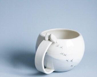 Keramik-Becher, einzigartige Keramik-Becher, lila Becher, Pastell und Keramik, einzigartige Kaffeebecher, Geschenk für Mutter, Geschenk für Mama, Muttertag