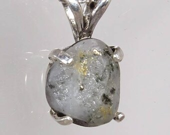 Raw Native Gold in Quartz 1.56 ct / from California / Sterling Pendant/Sterling Chain/ NOW on SALE / Free Shipping, Gift Wrap