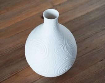 Beautiful vintage Bisque White Vase,  Heinrich, Germany