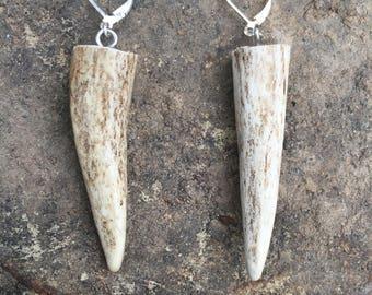 Plain Jane Deer Antler Earrings