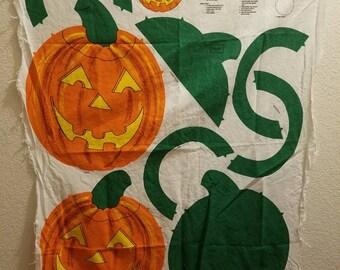 Cut and Sew Jack-o-lantern pattern