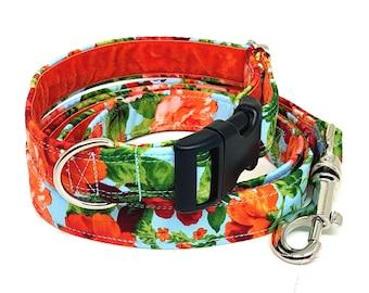 Handmade Floral Dog Collar