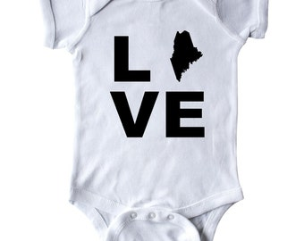 Love Maine Infant Creeper by Inktastic