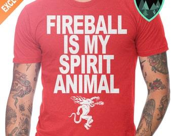 Fireball is my spirit animal shirt, Fireball shirt, Fireball Whiskey Shirt, Fireball Whiskey Tee, Fireball Whiskey Gift, Fireball Best