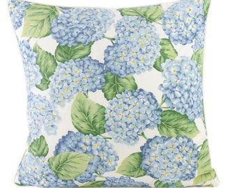 Dream Pillow pillow case hydrangea blue with piping-country house chic