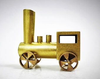 Bronze train miniature