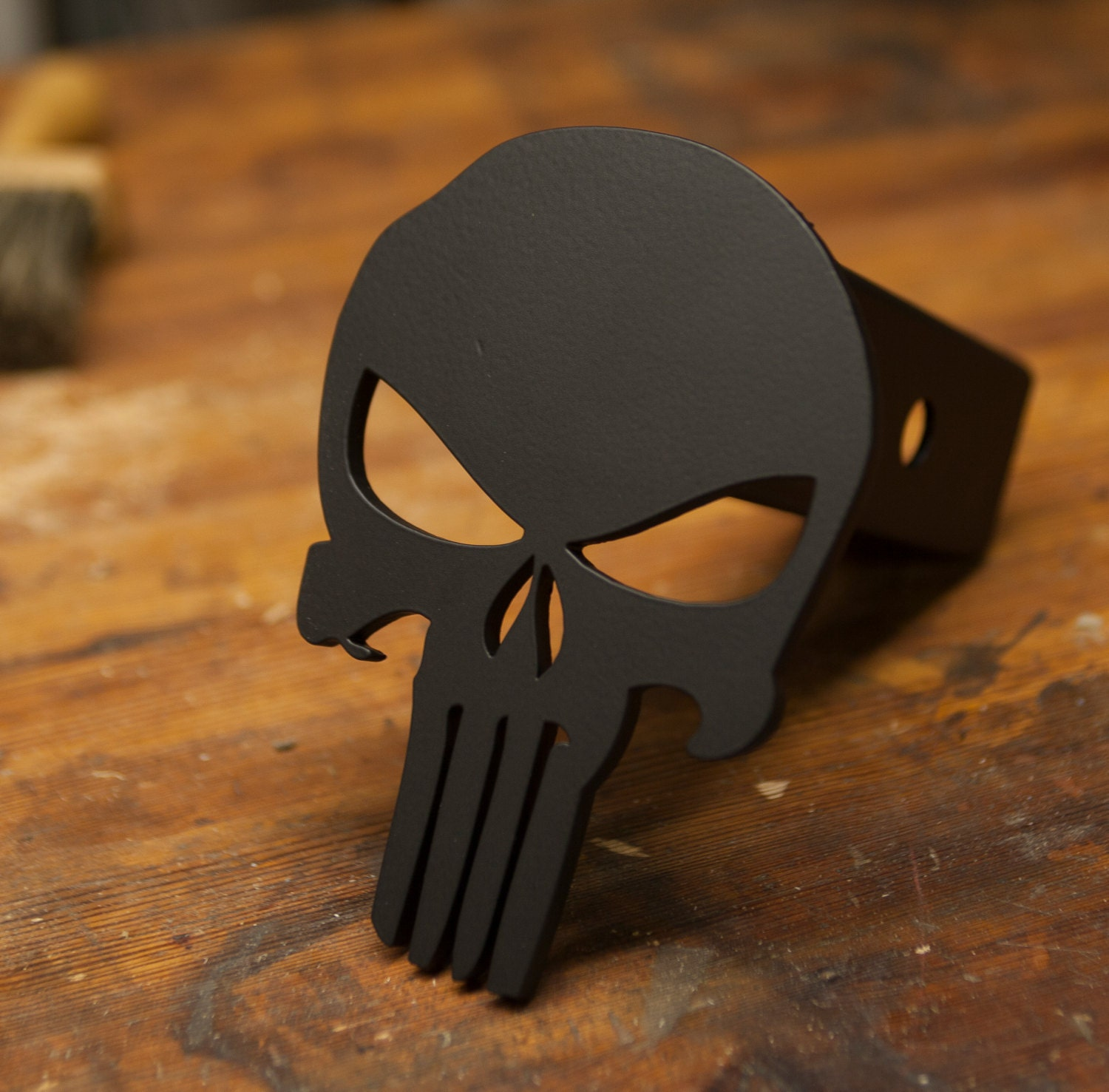 Punisher Trailer Hitch Cover Black